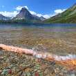 Stock Video: Two Medicine Lake Glacier National Park
