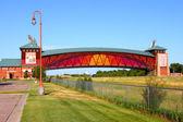 Büyük platte nehri yol kemerli nebraska — Stok fotoğraf