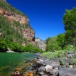 Stock Photo: Colorado River in Glenwood Canyon