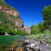 Colorado River in Glenwood Canyon — Stock Photo
