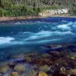 Yellowstone River Cascade Wyoming — Stock Photo