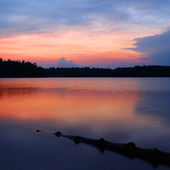 Northwoods Wisconsin Sunset — Stock Photo