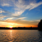 Northern Wisconsin Lake Sunset — Stock Photo