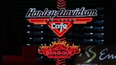 Harley Davidson Las Vegas Cafe — Stock Video