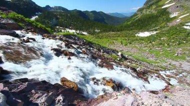 Sprague Creek Cascades Montana — Stock Video