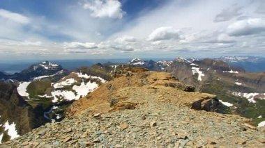 Mount Reynolds View Glacier National Park — Stock Video