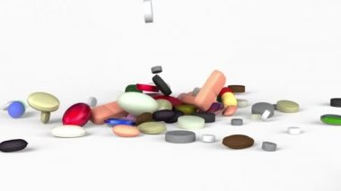 Spilled medicines — Stock Video