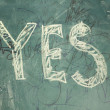 Yes-written with chalk — Stock Photo