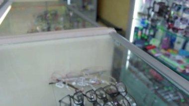 In Eyeglass store — Stock Video
