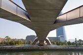 Bridge Pedro Arrupe in Bilbao, Spain — Stock Photo
