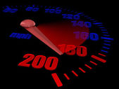 Auto speedometer — Stock Photo