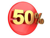 Discount 50 percent — Stock Photo