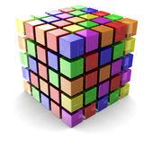 Color cube — Stock Photo