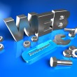 Stock Photo: 3d web
