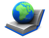 Book with planet — Stock Photo