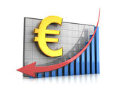 Course euro decline — Stock Photo