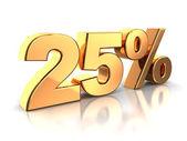 25 procent — Stockfoto