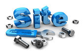 Web site design — Stock Photo