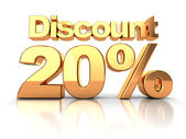 Discount 20 percent — Foto de Stock