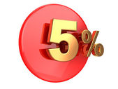 Discount 5 percent — Stock Photo