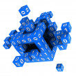 Stock Photo: Cube with binary code