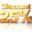 Discount 25 percent — Stock Photo