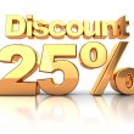 Discount 25 percent — Stock Photo