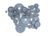 Industriella gears — Stockfoto