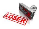 Stämpel förlorare — Stockfoto