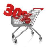30 percent in cart — Fotografia Stock