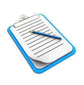Clipboard with pencil — Photo