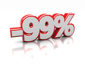 Discount 99 percent — Stock Photo