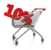 10 percent in cart — Stock Photo
