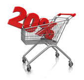 20 percent in cart — Stock Photo