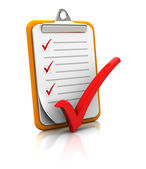Clipboard with checklist — Stock Photo