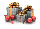 Group of gifts — Stock Photo