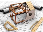 Proyecto de la casa — Foto de Stock