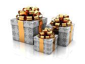 Three gift — Stock Photo