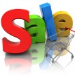 Stock Photo: Sale and cart