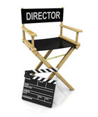 Director chair and clapboard — Stock Photo