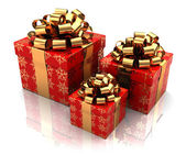 Three presents — Stockfoto