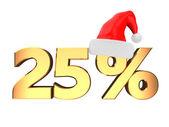 25% zniżki — Zdjęcie stockowe