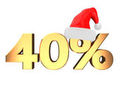 Forty percent christmas discount — Stock Photo
