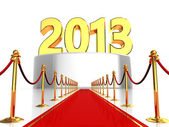 Red carpet to new year — Stock Photo