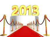 Roten teppich, um neujahr — Stockfoto