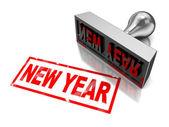 Año nuevo sello — Foto de Stock