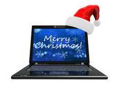Chrsitmas computer — Stock Photo