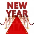 Red carpet to new year — Stock Photo #16886147