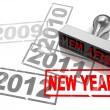 Stock Photo: New year concept