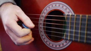 Acoustic guitar — Stok video